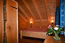 Schlafzimmer im Ferienhaus Bayerwald