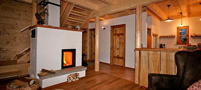 Gemütlicher Wohnraum im Ferienhaus Bayerischer Wald